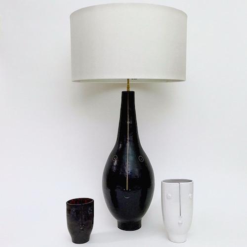 DaLo - Paire de pieds de lampes noirs