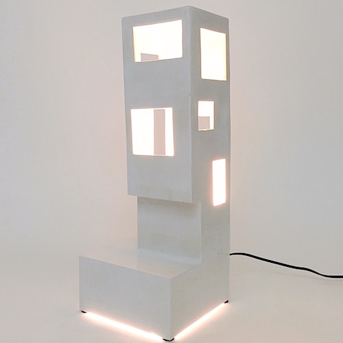 Frédéric Bourdiec - Large Architectural Lamp on Base