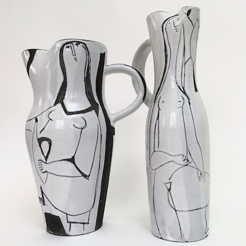 Jacques Innocenti - Large Decorated Pitcher