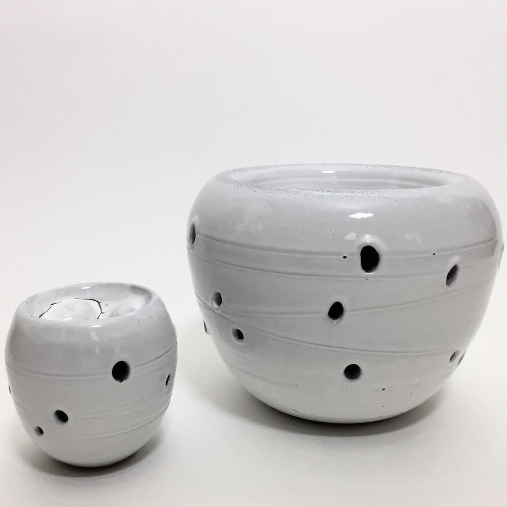 Salvatore Parisi - Vase cratère blanc