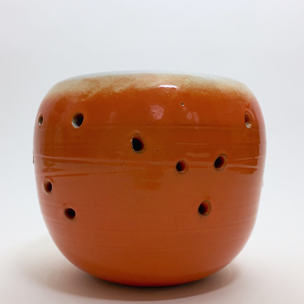 Salvatore Parisi - Ceramic Decorative Vase Glazed in Orange
