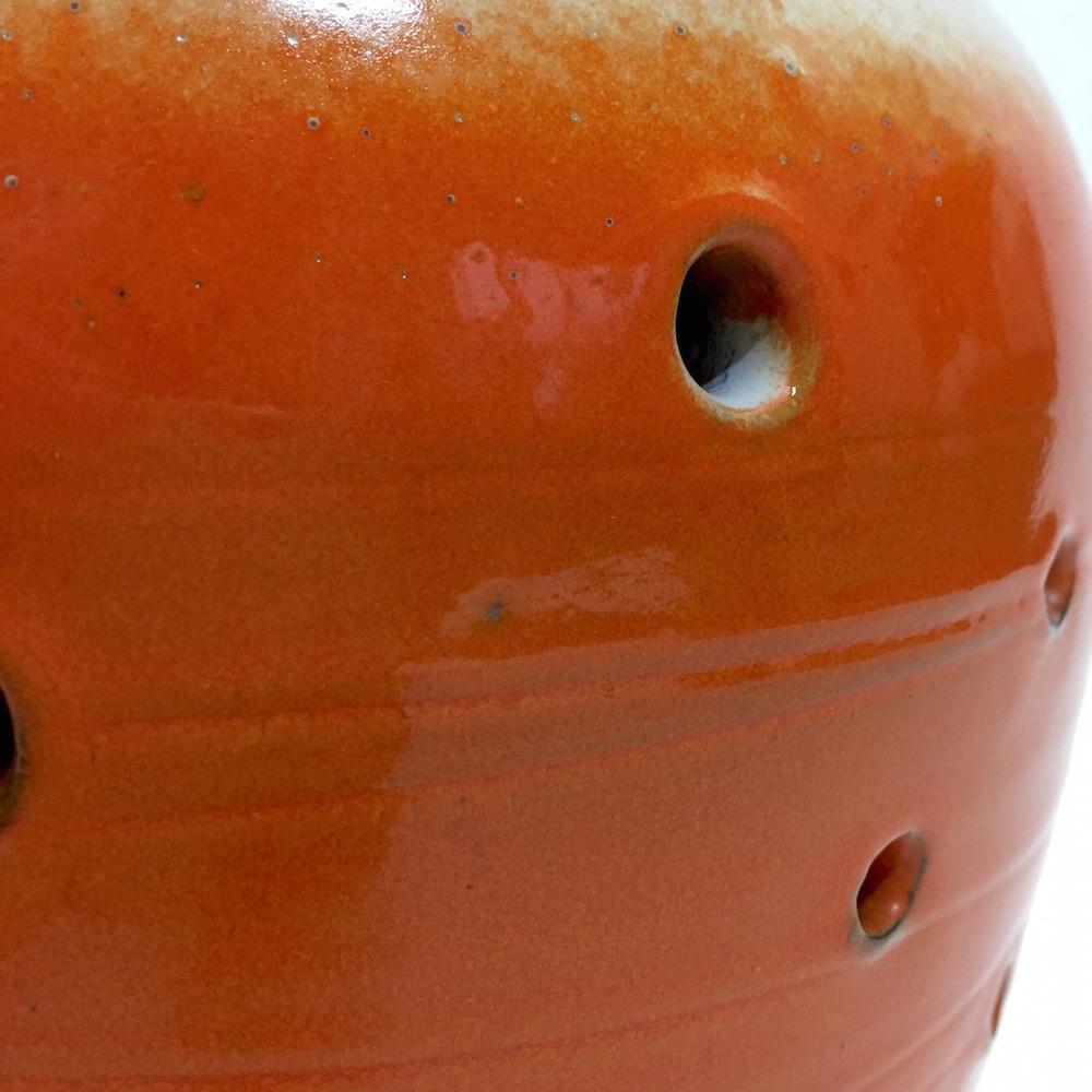 Salvatore Parisi - Vase cratère orange