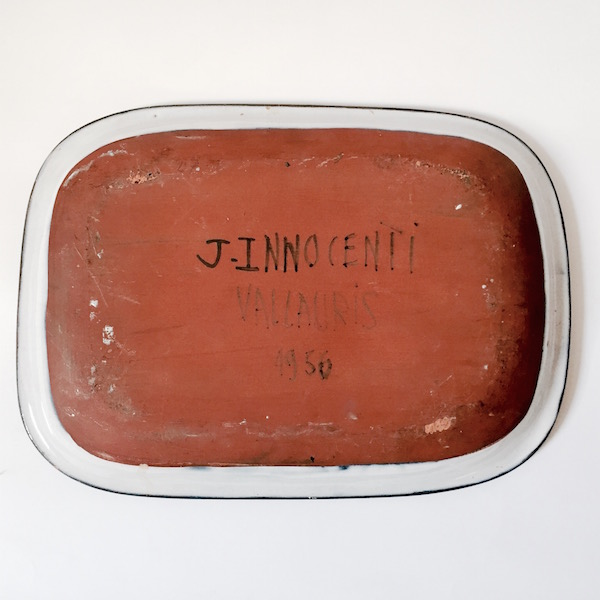 Jacques Innocenti - Plat ou vide poche décoré d'un oiseau