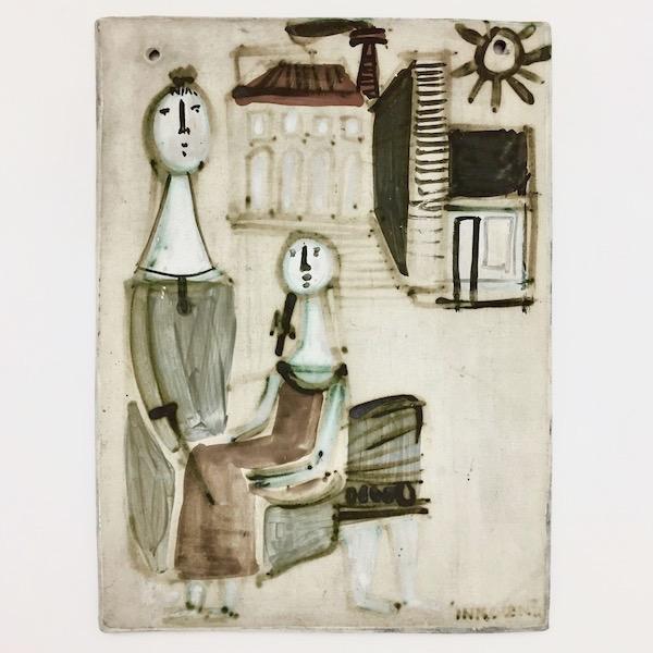 Jacques Innocenti - Grande plaque en céramique
