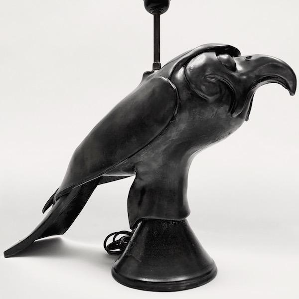 Lampe oiseau en céramique