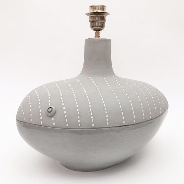DaLo - Pied de lampe au poisson gris