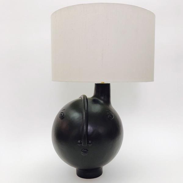 DaLo - Ceramic Table Lamp Base Glazed in matt Black