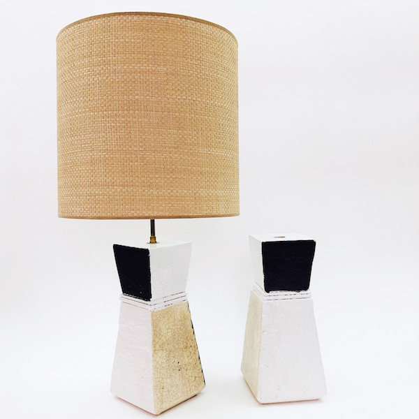 Salvatore Parisi - Pair of Geometric Table Lamp Bases