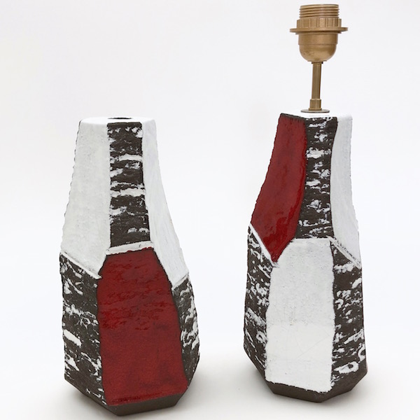 Salvatore Parisi - Paire de pieds de lampe