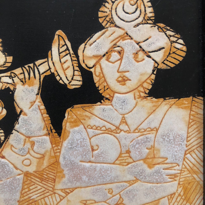 Eugène Fidler - Grand carreau décoré