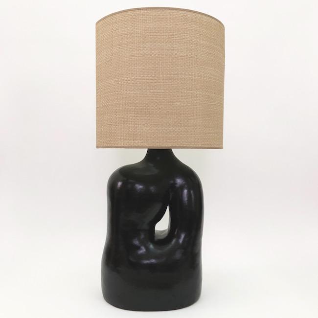 DaLo - Pied de lampe de forme libre, noir