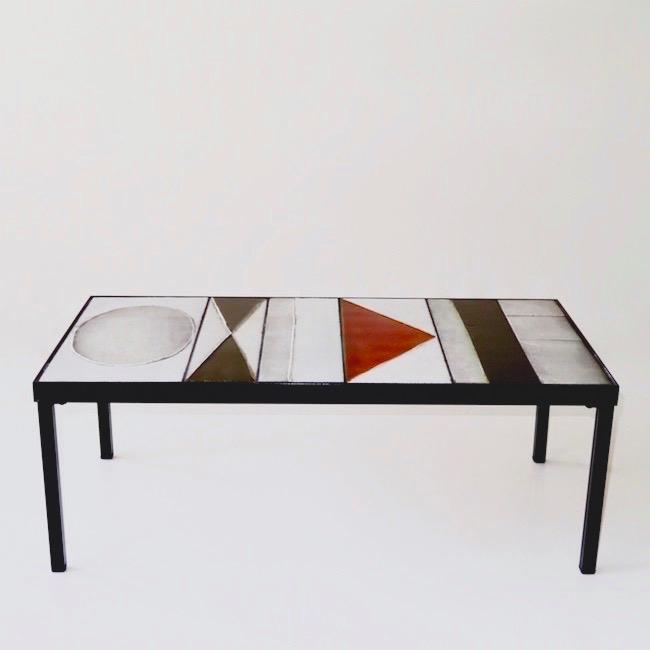 Roger Capron - Table basse à motifs géométriques