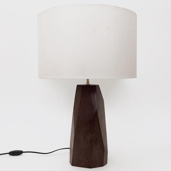 Julien Barrault - Pied de lampe en bois sculpté