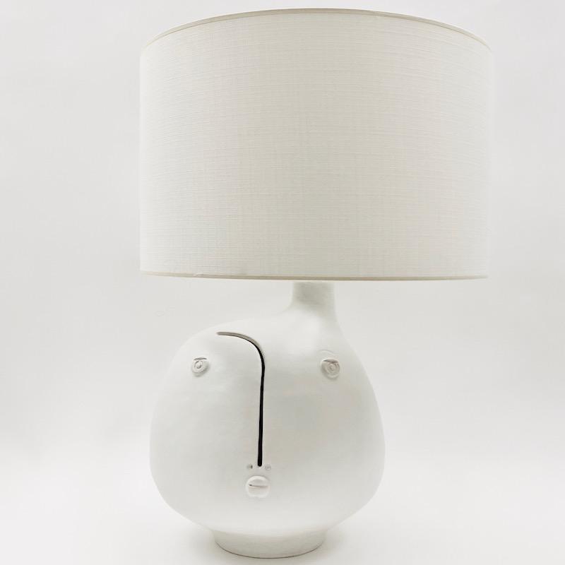 DaLo - White Ceramic Table Lamp Base