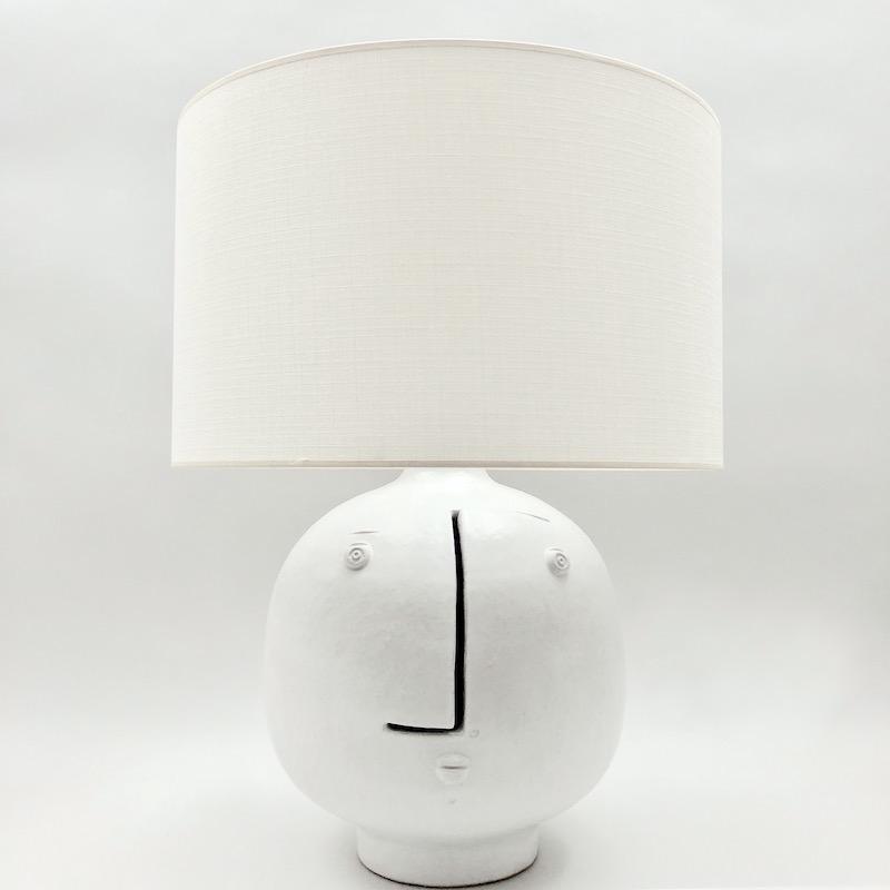 DaLo - Large White Ceramic Lamp Base
