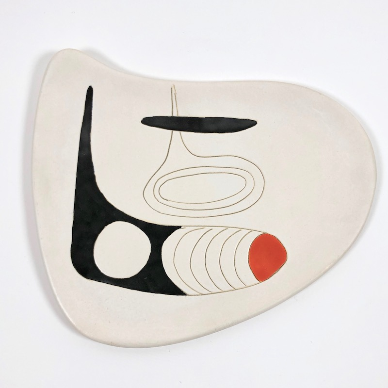 Denise and Peter Orlando - Decorative Ceramic Dish on Metal Base