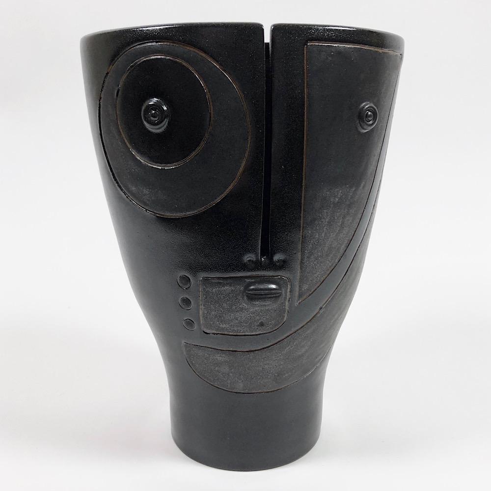DaLo - Vase Idole noir et gris