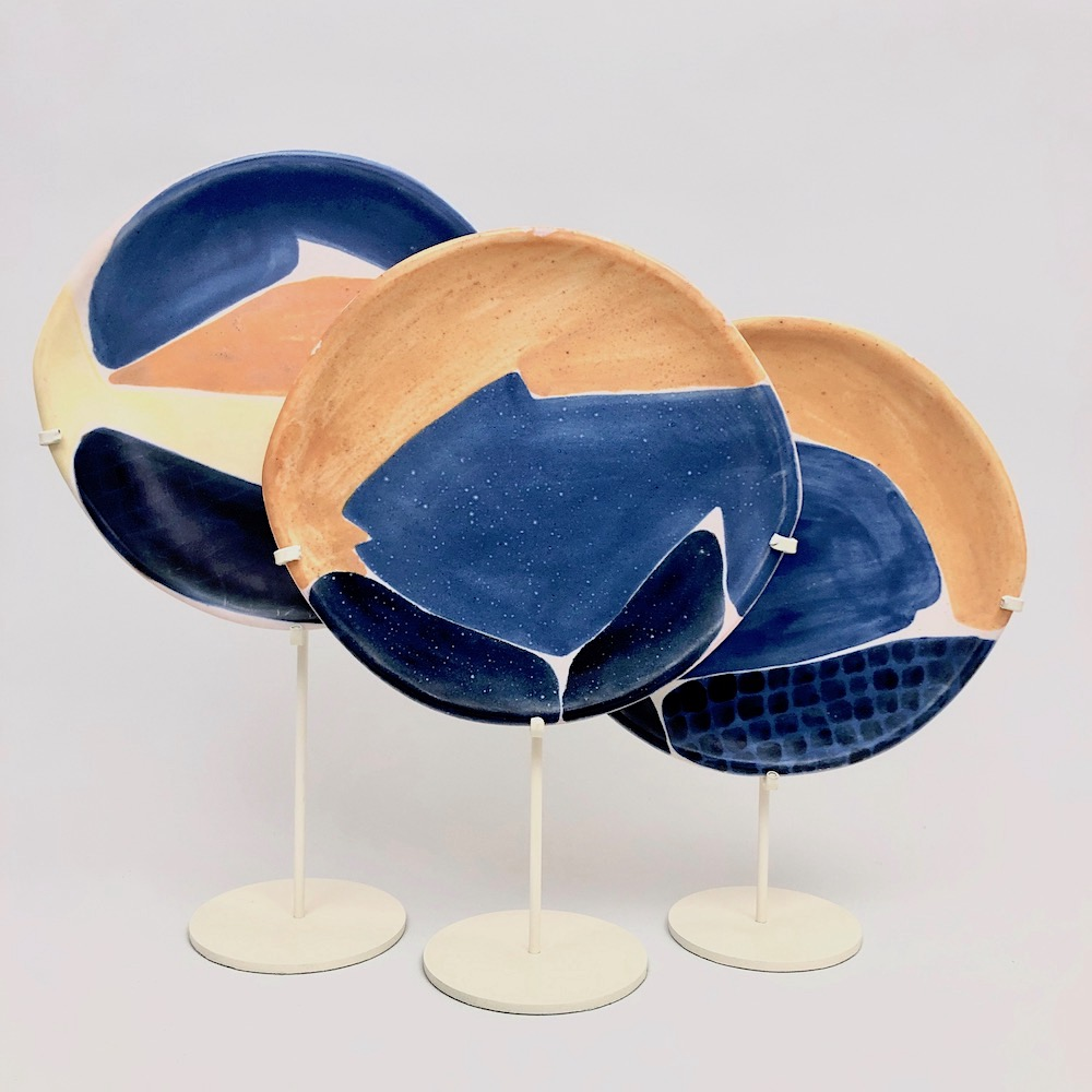 Mado Jolain - Ceramic Dishes with Fishes