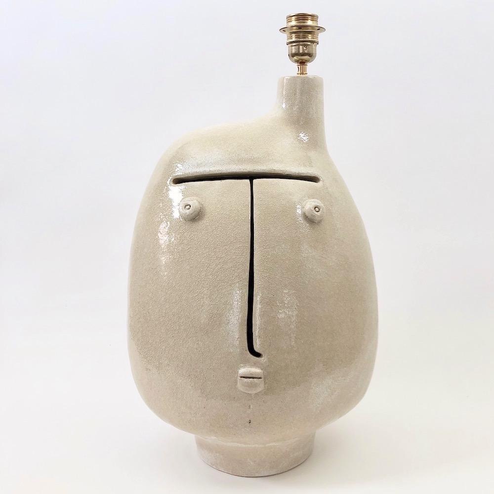 DaLo - Ceramic Lamp Base Glazed in Pale Brown Beige