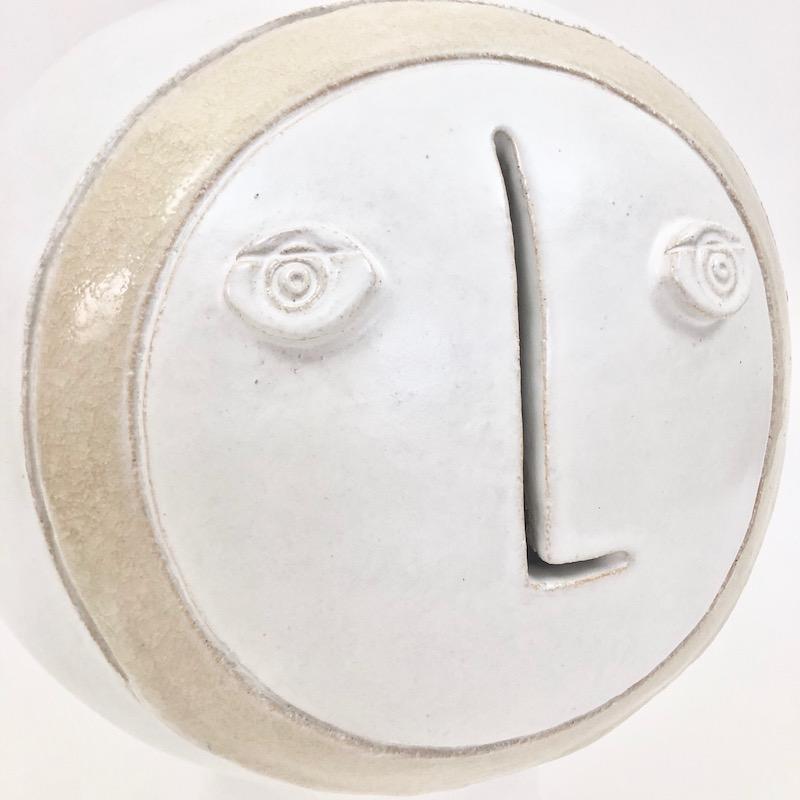 Dalo, White and Beige Ceramic Table Lamp Base