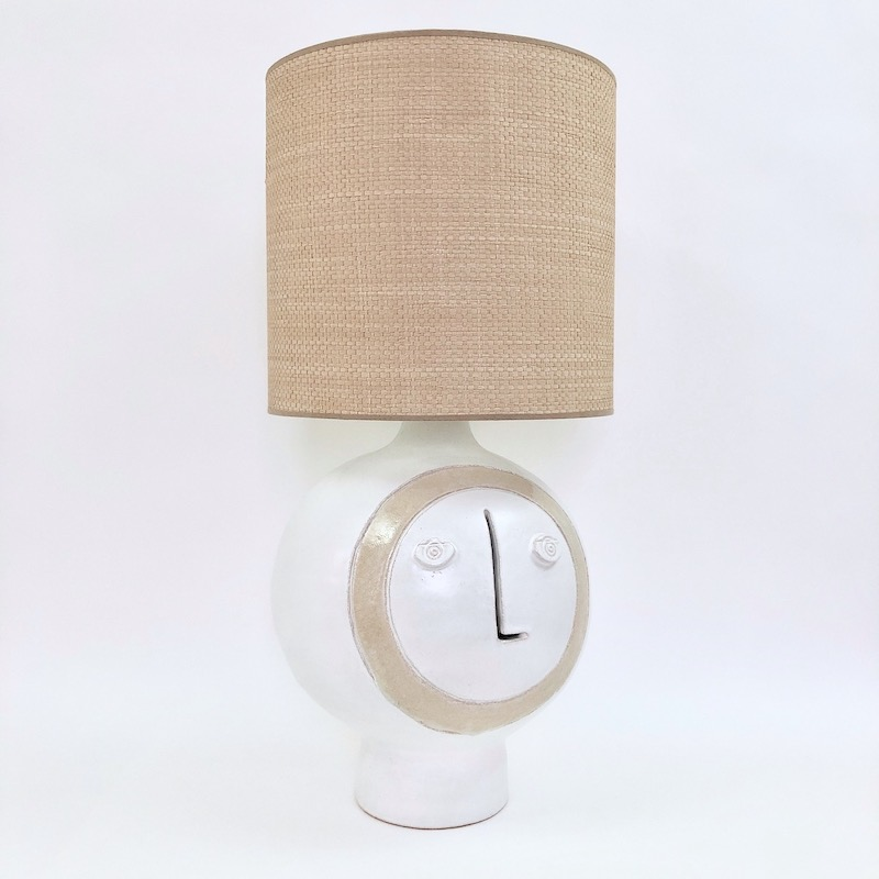 Dalo, White and Beige Ceramic Table Lamp Base