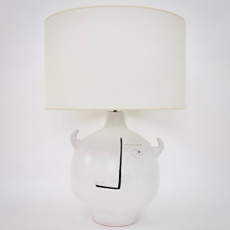 DaLo - Pied de lampe Taureau blanc