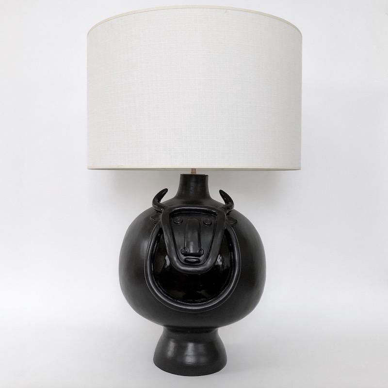 DaLo - Grand pied de lampe Taureau noir