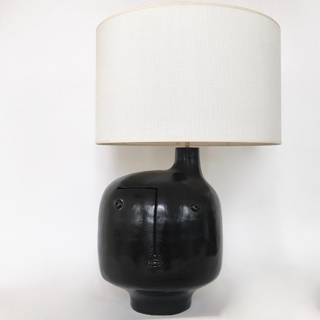 DaLo - Grand pied de lampe noir satiné
