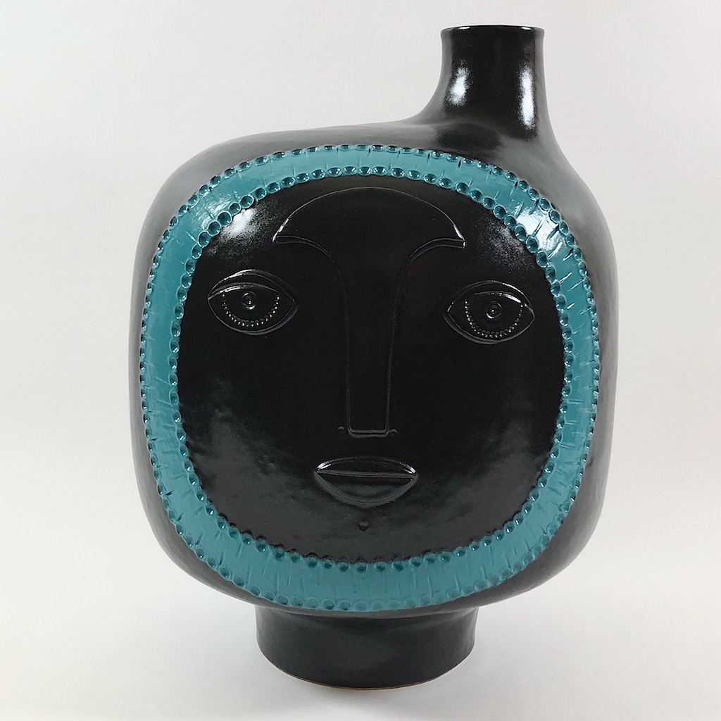 Dalo - Black and Turquoise Blue Ceramic Table Lamp