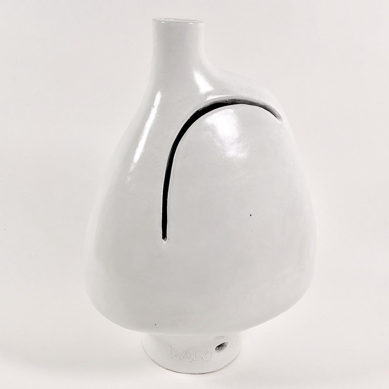 DaLo - Pied de lampe blanc, col décentré