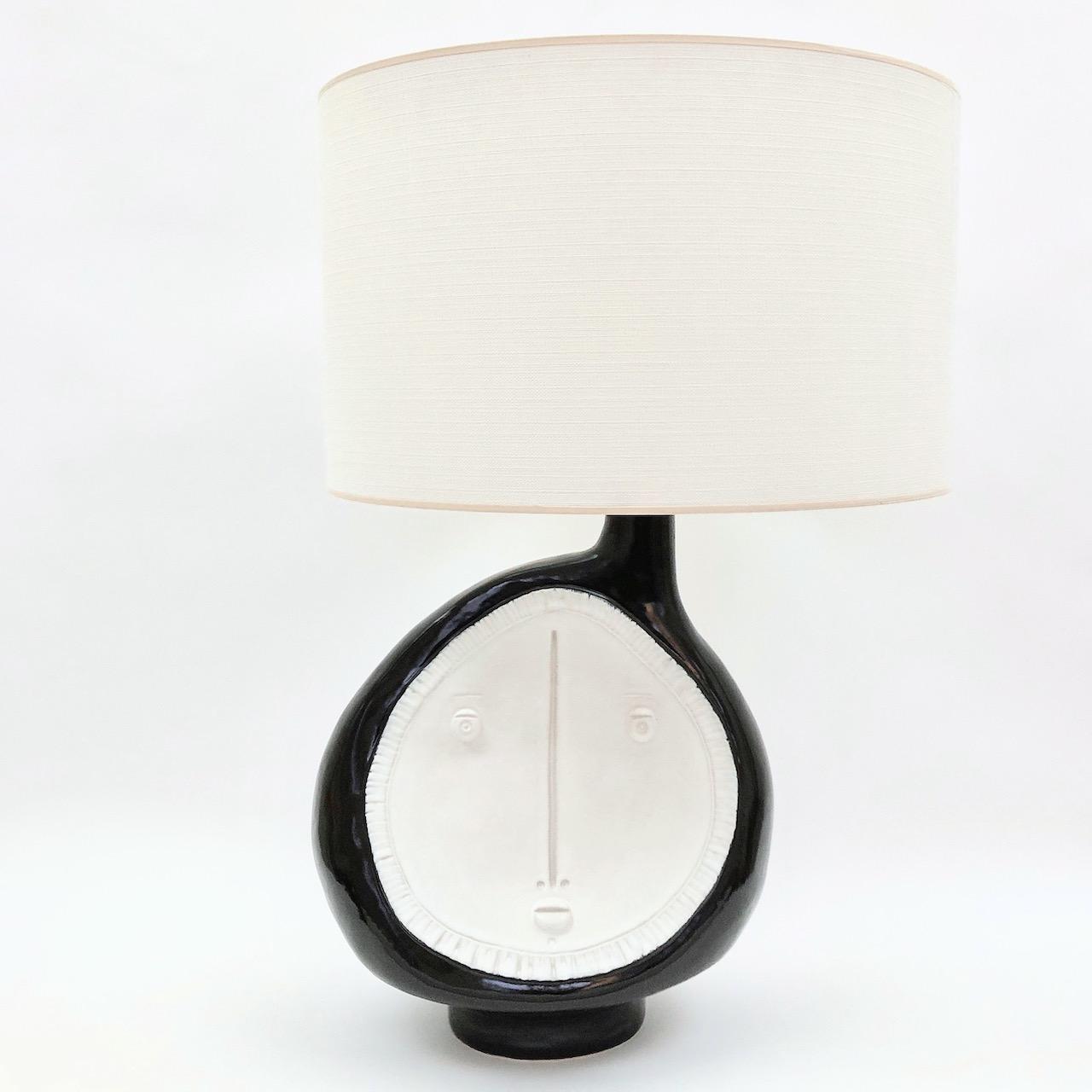 DaLo - Grand pied de lampe blanc et noir