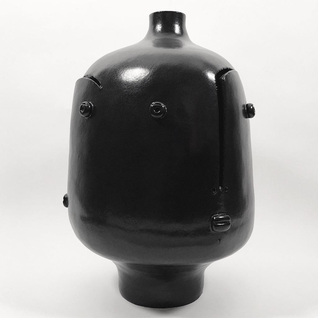 DaLo - Grand pied de lampe noir, trois faces