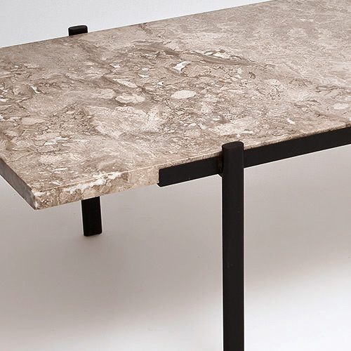 Table basse chene clair et marbre sammlung for Table basse marbre