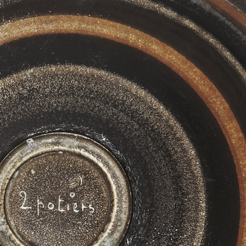 2 Potiers - Grand plat