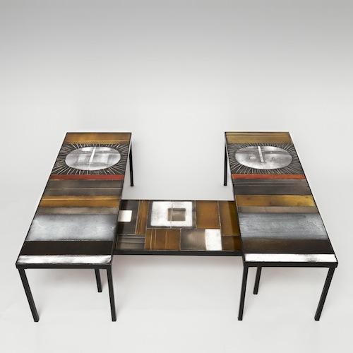 Roger Capron Glazed Lava Coffee Table