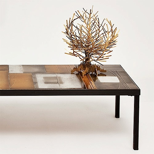Brutalist table sculpture