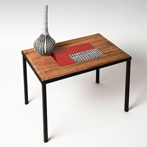Table d 39 appoint noir laque for Table haute d appoint